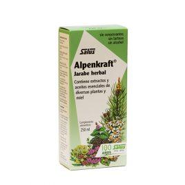 Jarabe herbal con extractos y aceites de diversas plantas